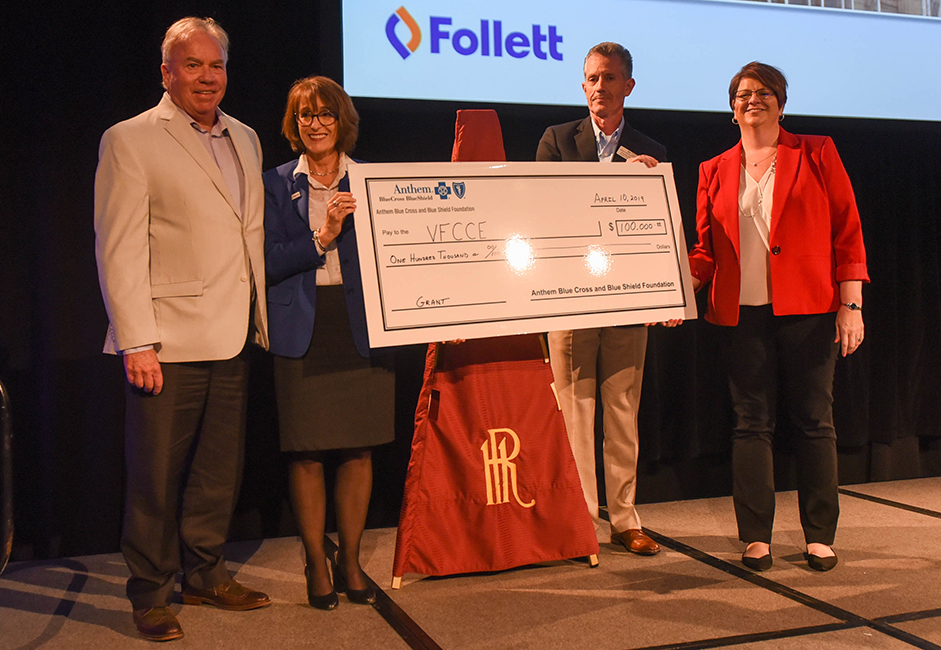 A gift to the VFCCE from The Anthem Foundation will establish and expand food pantries by 33% in Virginia's community colleges