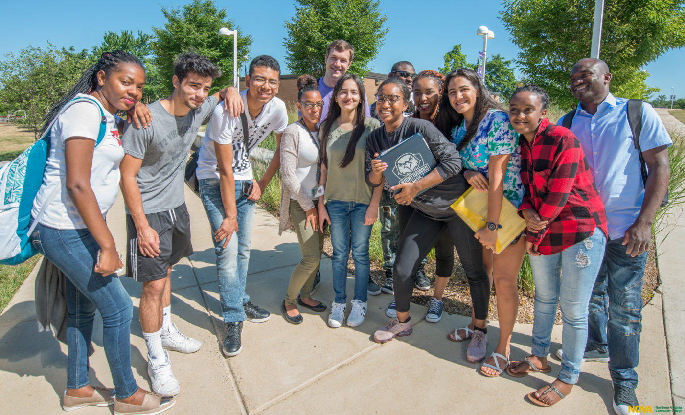Students at Northern Virginia Community College